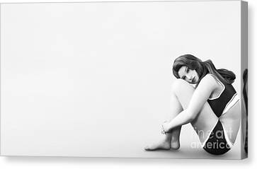 Canvas Print featuring the digital art Solitude by Methune Hively