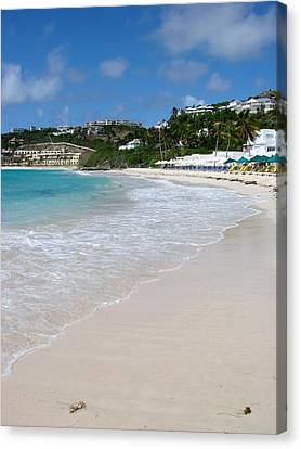 Solitude On Dawn Beach Canvas Print