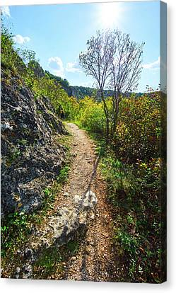 Solo Hiking Canvas Print