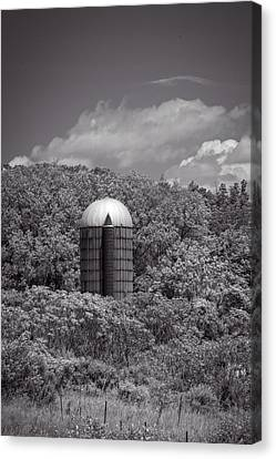Solo Silo Canvas Print by Guy Whiteley