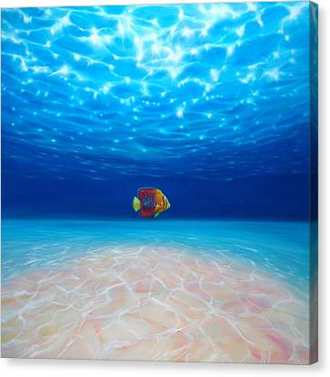 Solo Under The Sea Canvas Print by Gill Bustamante