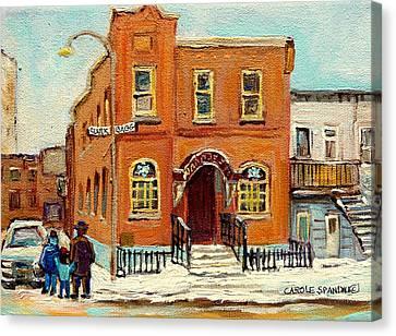 Solomons Temple Montreal Bagg Street Shul Canvas Print by Carole Spandau
