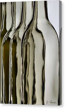 Somber Bottles Canvas Print by Joe Bonita
