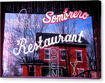 Sombrero Restaurant Canvas Print by Jame Hayes