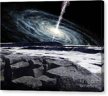Some Galaxies Have Powerfully Active Canvas Print by Ron Miller