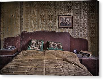 Abandoned House Canvas Print - Somebody Is In Our Bedroom Taking Pictures by Dirk Ercken