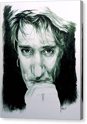 Someone Like You - Rod Stewart Canvas Print by William Walts