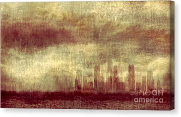 Grant Park Canvas Print - Someone To Hold You Beneath Darkened Sky by Dana DiPasquale