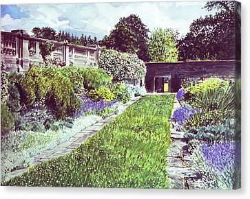 Somerset Garden Canvas Print by David Lloyd Glover