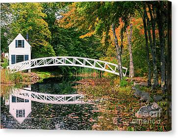 Somesville Bridge Canvas Print by Henk Meijer Photography