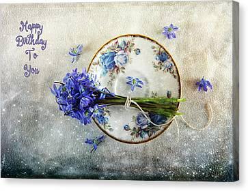 Something Blue For You Canvas Print by Randi Grace Nilsberg