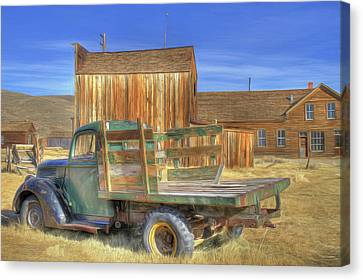 Somethin' 'bout A Truck Canvas Print by Donna Kennedy