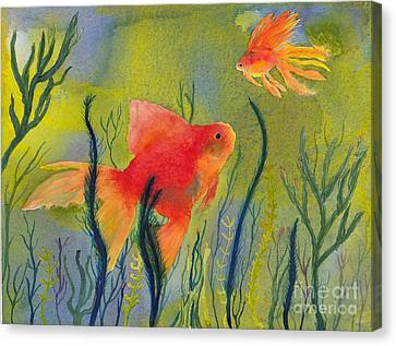 Something Fishy Going On Canvas Print