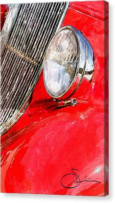 Headlight Canvas Print - Something Red by Robert Smith