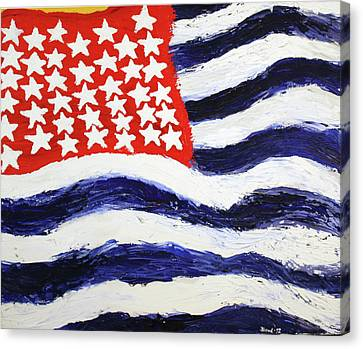 Canvas Print featuring the painting Something's Wrong With America by Thomas Blood