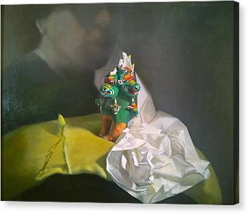 Fantasy Realistic Still Life Canvas Print - Sometimes I Can't Belive You Are Gone by Weiyu Xia