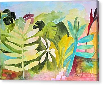 Canvas Print featuring the painting Sometimes I Miss The Tropics by Sandy McIntire