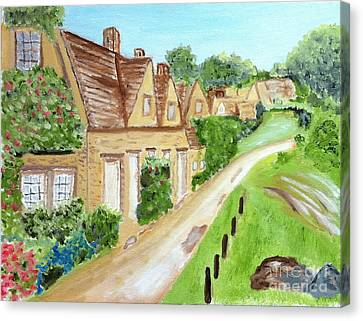 Somewhere In Cotswolds South West England Canvas Print