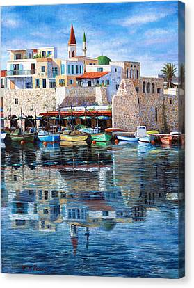 Somewhere In The Mediterranean Canvas Print