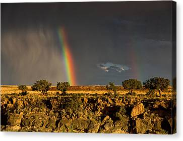 Canvas Print featuring the photograph Somewhere by James Menzies