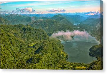 Canvas Print featuring the photograph Over Alaska - June  by Madeline Ellis
