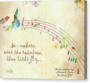 Melody Canvas Print - Somewhere Over The Rainbow Adrian And Claire by Nikki Marie Smith