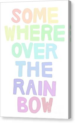 Somewhere Over The Rainbow Canvas Print by Priscilla Wolfe