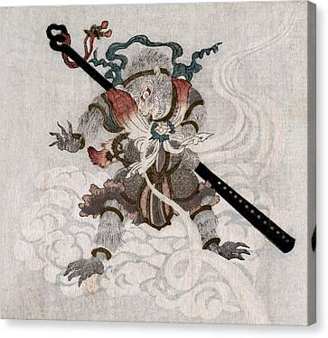 Son Goku, The Monkey King. Japanese Canvas Print by Everett