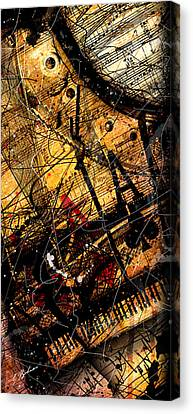Sonata In Ace Minor Panel 3 Canvas Print by Gary Bodnar