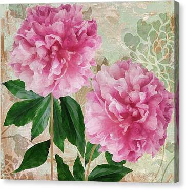 Sonata Pink Peony I Canvas Print by Mindy Sommers