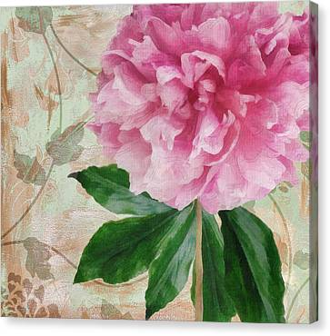 Sonata Pink Peony II Canvas Print by Mindy Sommers