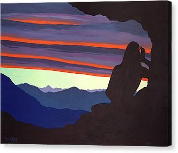 Milarepa Canvas Print - Song At Sunset - Milarepa by Losang Gyatso
