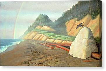 Canvas Print featuring the painting Song For My Brother by Laurie Stewart