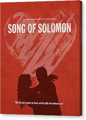 Song Of Solomon Books Of The Bible Series Old Testament Minimal Poster Art Number 22 Canvas Print