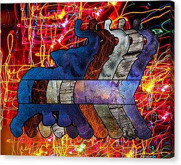 Song Of The Elephants Canvas Print by Kyle Willis