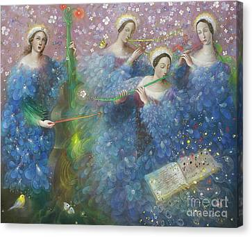 Song Of The Goddess Natura Canvas Print by Annael Anelia Pavlova