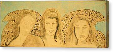 Song Of The Sisters Unfinished Canvas Print by J Bauer