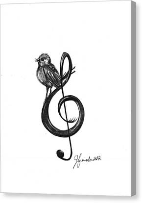 Songbird  Canvas Print by J Ferwerda