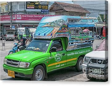 Canvas Print featuring the photograph Songthaew Minibus by Antony McAulay