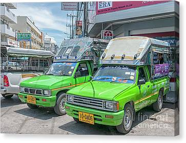 Canvas Print featuring the photograph Songthaew Taxi by Antony McAulay