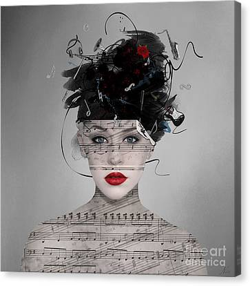 Canvas Print featuring the digital art Songwriter by Nola Lee Kelsey