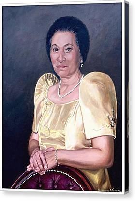 Sonia Canvas Print by Rosencruz  Sumera