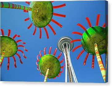 Canvas Print featuring the photograph Sonic Bloom In Seattle Center by Adam Romanowicz