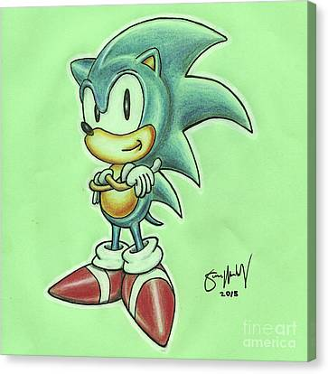 Sonic Drawing Canvas Print