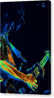 Sonic Guitar Explosions Art 1 Canvas Print by Ben Upham