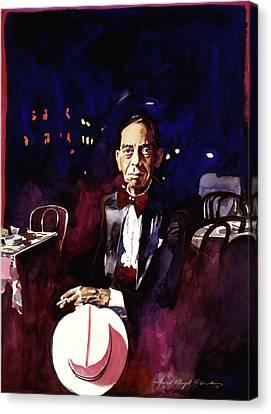 Sonny Greer Jazz Drummer Canvas Print by David Lloyd Glover
