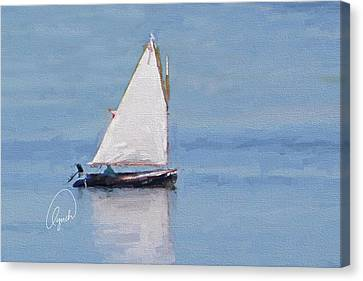 Sonny's Sailboat Signed Canvas Print