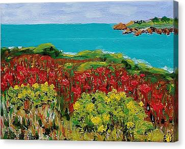 Sonoma Coast With Wildflowers Canvas Print