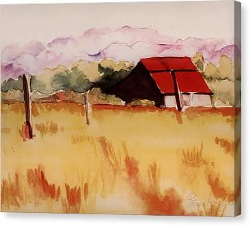 Sonoma Wheatfield Canvas Print by Patricia Halstead