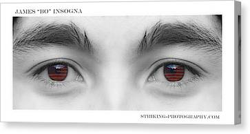Son's Eyes Canvas Print by James BO  Insogna